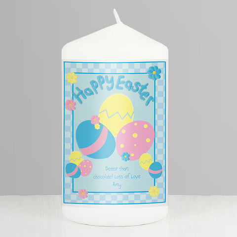 Personalised Happy Easter Eggs Candle | ShaneToddGifts.co.uk