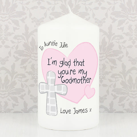 Buy Personalised Godmother Candle