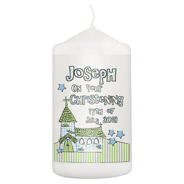 personalised-blue-church-candle