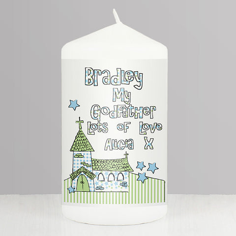 Buy Personalised WHimsical Church Godfather Candle