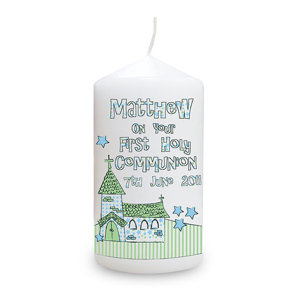 personalised-whimsical-church-blue-1st-holy-communion-candle