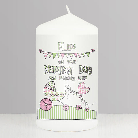 Buy Personalised Whimsical Pram Candle