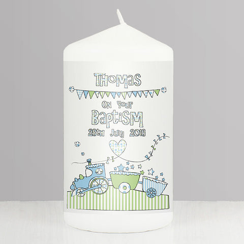 Buy Personalised Whimsical Train Candle