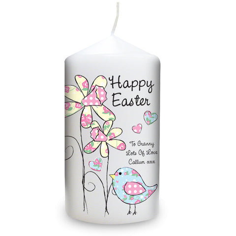 Personalised Daffodil Chick Easter Candle | ShaneToddGifts.co.uk