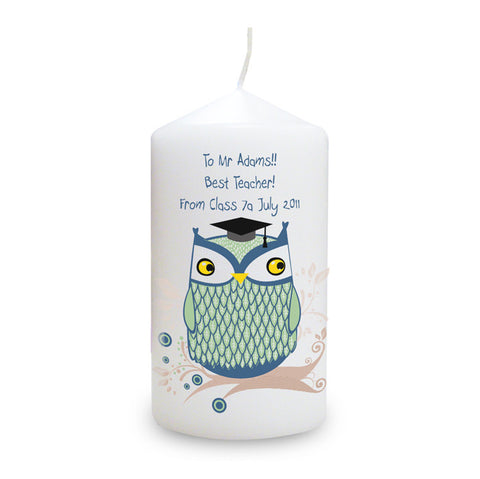 Buy Personalised Mr Owl Candle