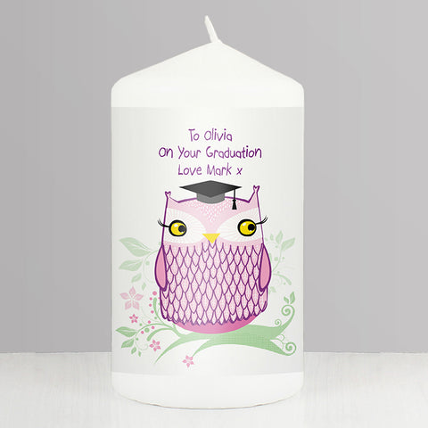 Buy Personalised Miss Owl Candle