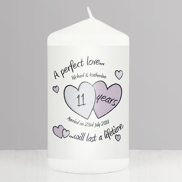 Buy Personalised A Perfect Love Anniversary Candle