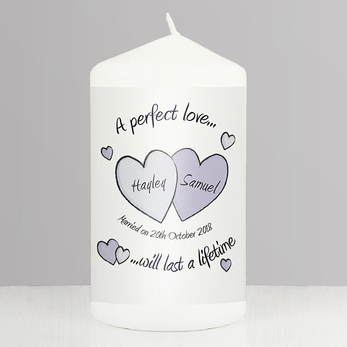 Personalised A Perfect Love Wedding Candle