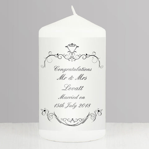 Buy Personalised Ornate Swirl Candle