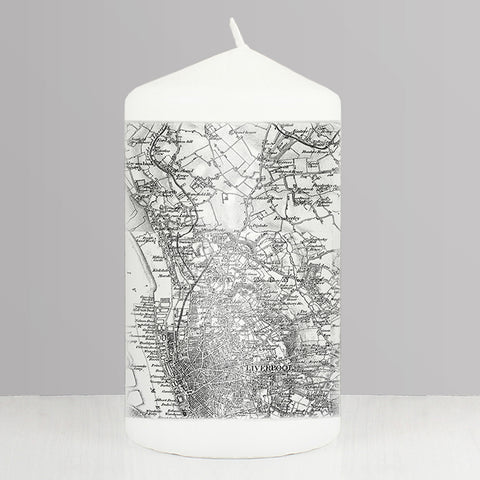 Personalised Map Candle - Old Series 1805 - 1874