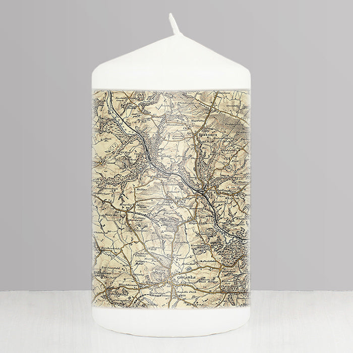 Personalised 1896 - 1904 Revised New Map Candle | ShaneToddGifts.co.uk