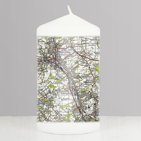 Buy Personalised 1945 - 1948 New Popular Map Candle