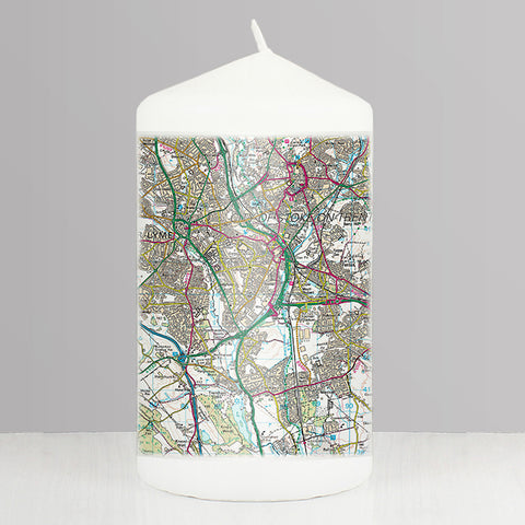 Buy Personalised Present Day Map Candle
