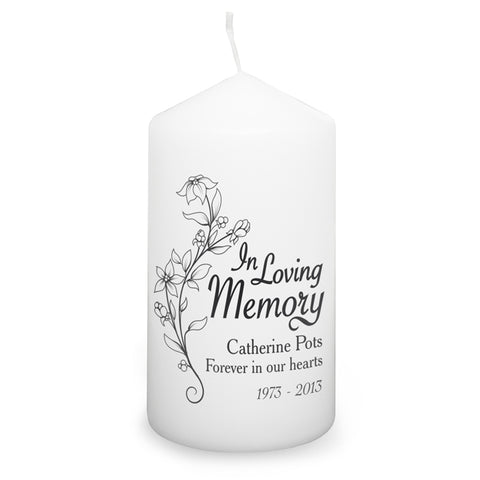 Buy Personalised In Loving Memory Candle