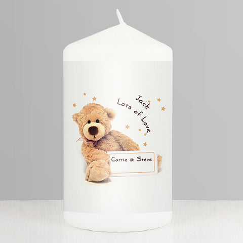 Buy Personalised Teddy Candle