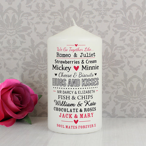 Buy Personalised We Go TogetHer Like.... Candle
