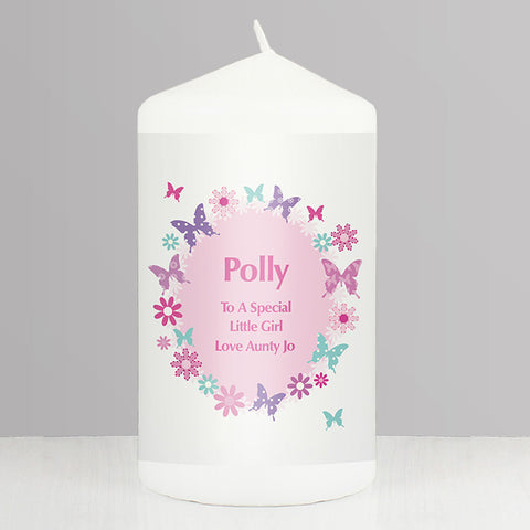 Buy Personalised Butterfly Candle