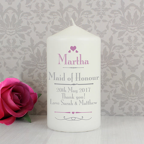 Buy Personalised Decorative Wedding Candle