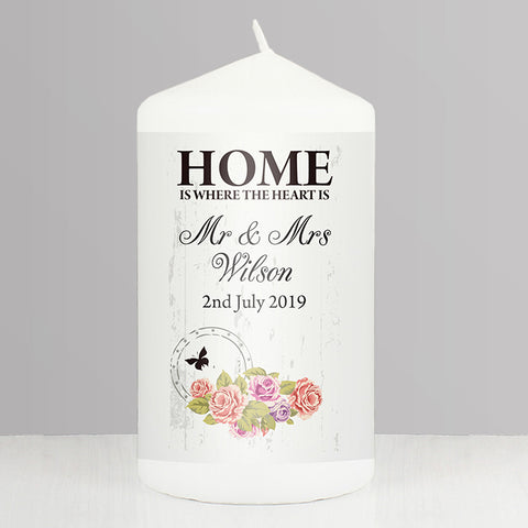 Buy Personalised Shabby Chic Candle