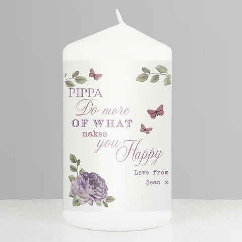 Buy Personalised Secret Garden Candle