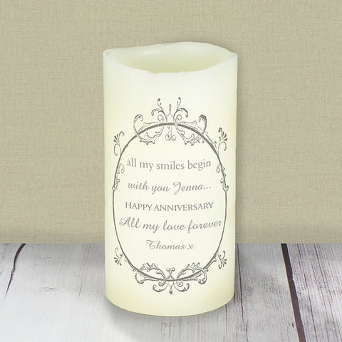 Personalised Love Makes a Home LED Candle | ShaneToddGifts.co.uk