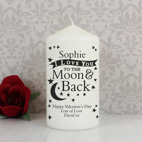 Buy Personalised To the Moon and Back... Candle