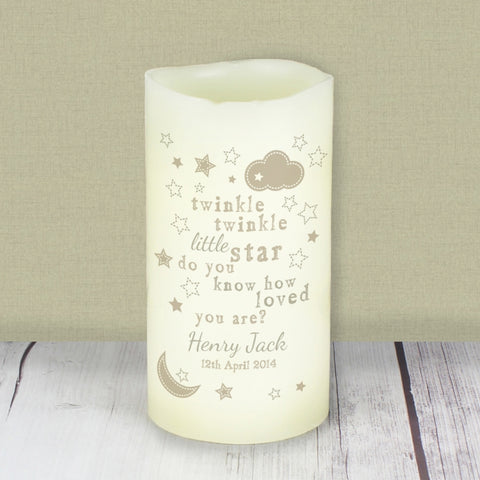 Buy Personalised Twinkle Twinkle Nightlight LED Candle