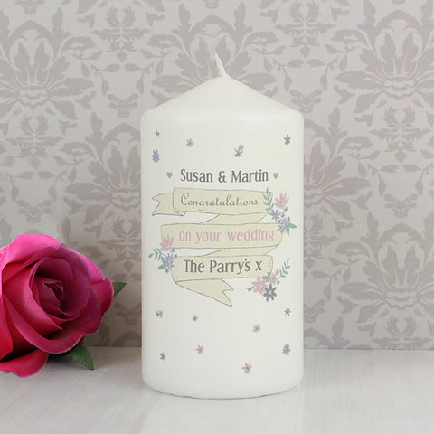 Buy Personalised Garden Bloom Candle