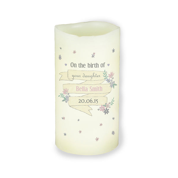 personalised-garden-bloom-led-candle