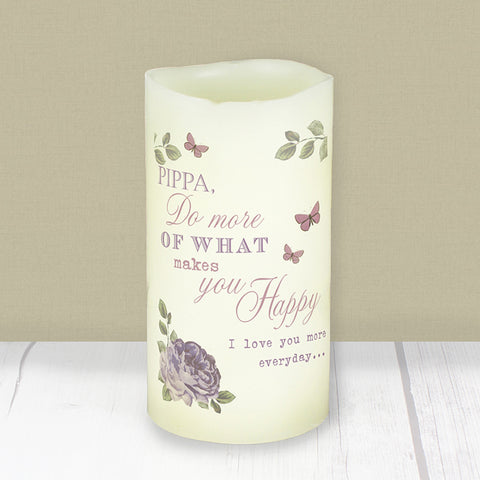 Personalised Secret Garden LED Candle | ShaneToddGifts.co.uk