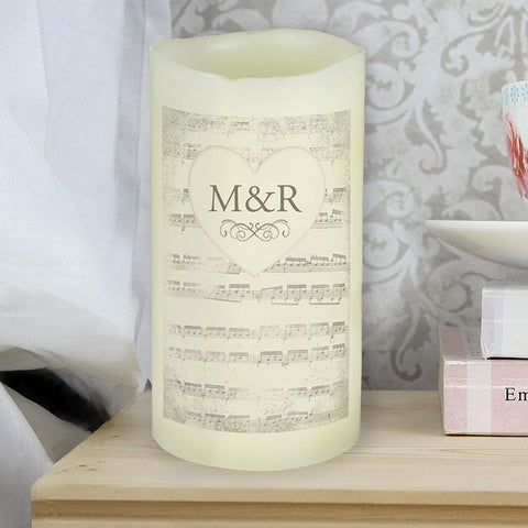 Personalised Vintage Manuscript LED Candle | ShaneToddGifts.co.uk