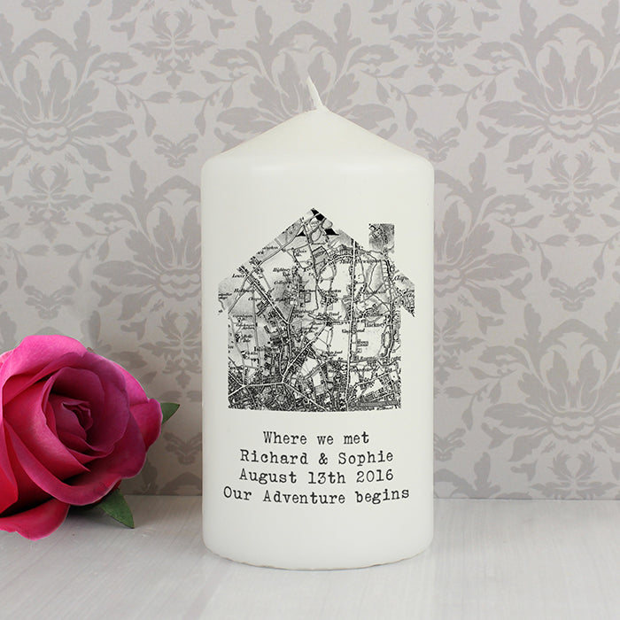 Personalised 1805 - 1874 Old Series Map Home Candle | ShaneToddGifts.co.uk
