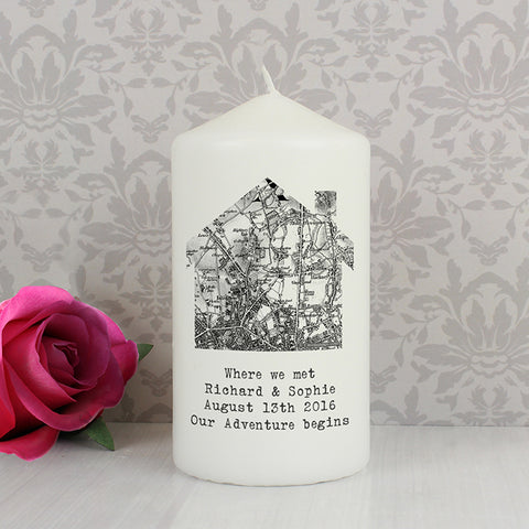 Buy Personalised 1805 - 1874 Old Series Map Home Candle