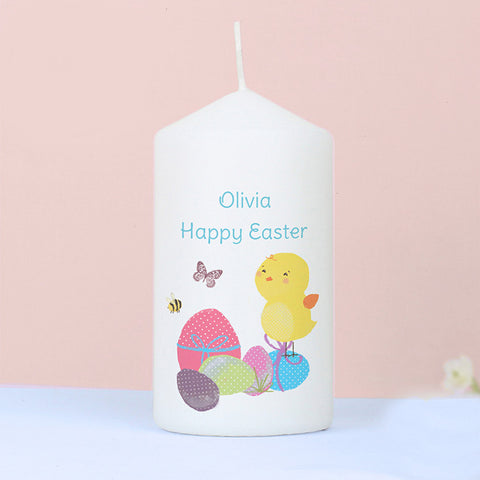 Personalised Easter Meadow Chick Candle - Shane Todd Gifts UK