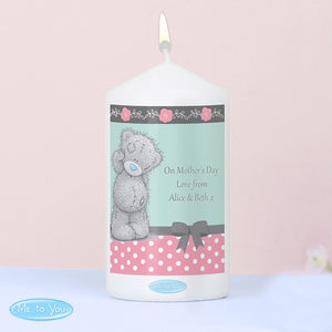 Personalised Me To You Pastel Belle Candle