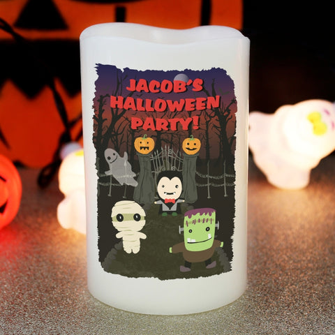 Buy Personalised Halloween LED Candle