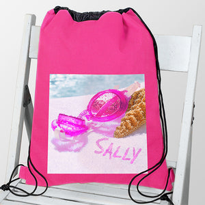 Personalised Swimming Goggles Pink Swim & Kit Bag