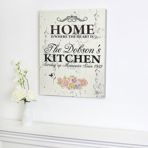 Buy Personalised Floral Shabby Chic Canvas