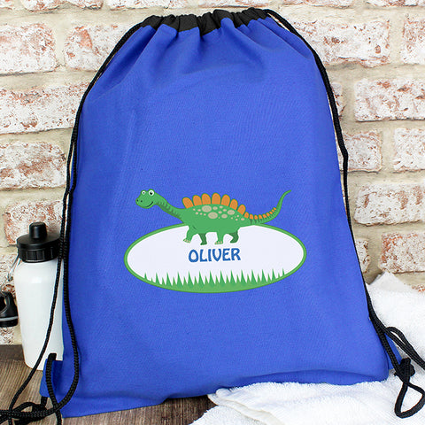 Personalised Dinosaur Swim & Kit Bag