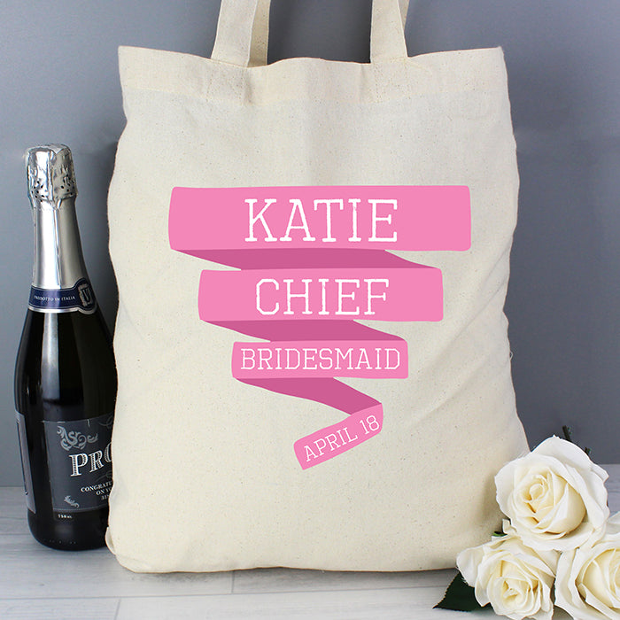 Personalised Pink Banner Cotton Bag, Luggage & Bags by Gifts24-7