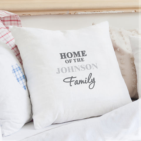 Buy Personalised The Family Cushion Cover