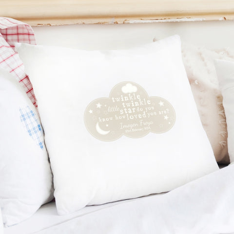 Buy Personalised Twinkle Twinkle Cushion Cover