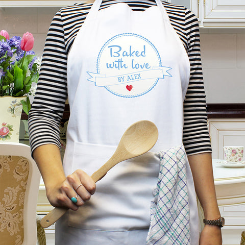 Personalised Baked With Love Apron | ShaneToddGifts.co.uk