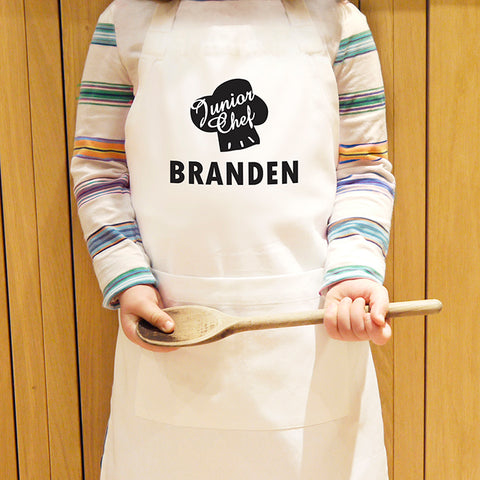 Personalised Junior Chef Kids Apron | ShaneToddGifts.co.uk