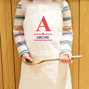 Personalised Boys Initial Kids Apron
