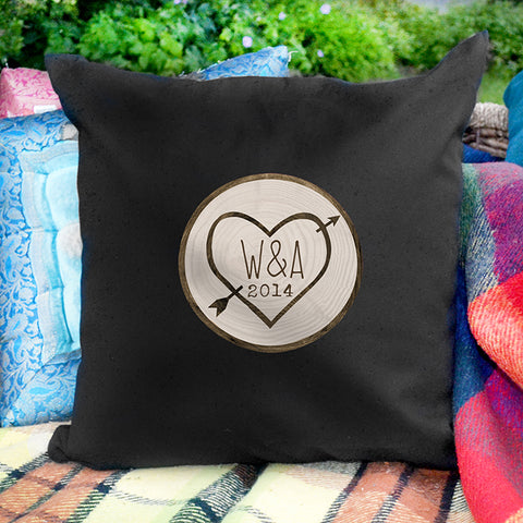 Buy Personalised Wood Carving Black Cushion Cover