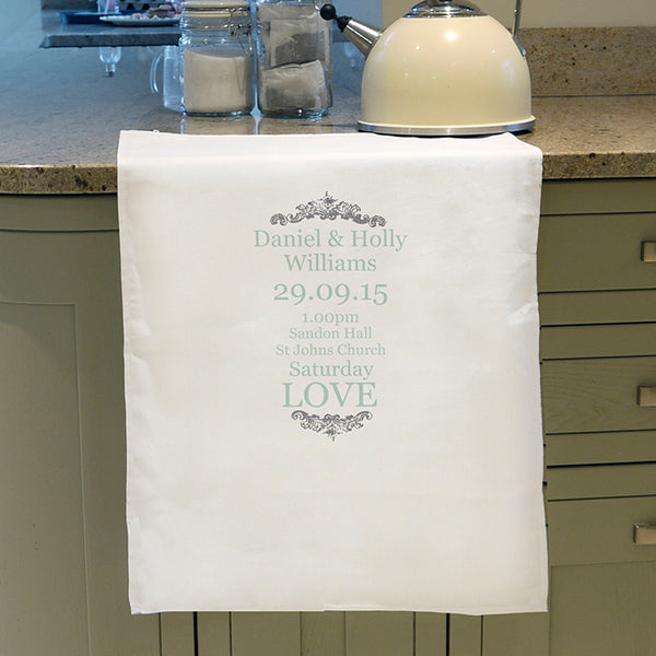 personalised-wedding-typography-white-tea-towel