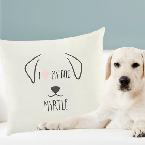 Personalised Dog Features Cushion Cover | ShaneToddGifts.co.uk