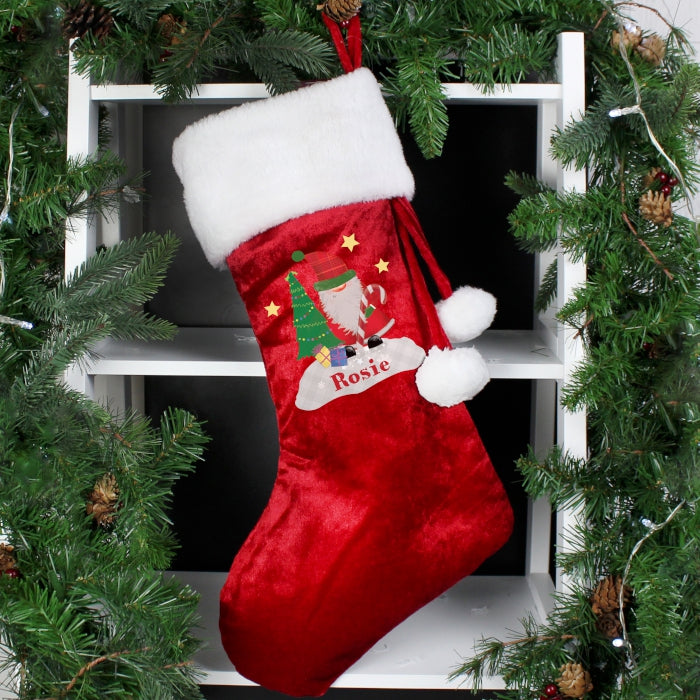 Buy Personalised Tartan Santa Stocking