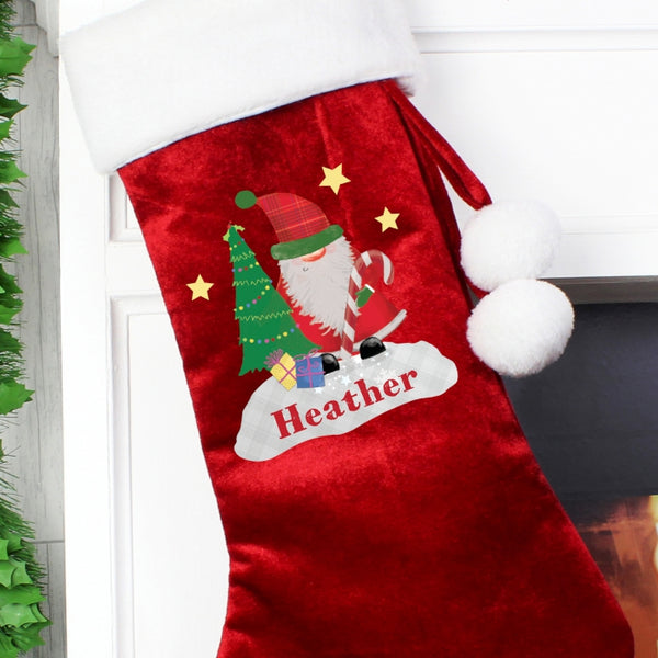 personalised-tartan-santa-stocking